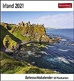 Irland Sehnsuchtskalender 2021 - Postkartenkalender mit Wochenkalendarium - 53 perforierte Postkarten zum Heraustrennen - zum Aufstellen oder ... x 17,5 cm: Sehnsuchtskalender, 53 Postkarten