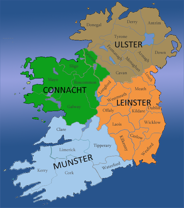 irland provinzen karte Historische Provinz Irlands | RM Irland