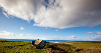 Panoramablick auf die irische Atlantikküste