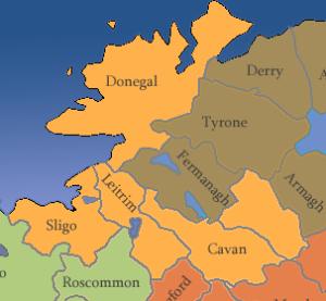Irland-Nordwesten-Karte-Counties