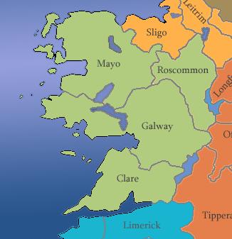 Irland Karte Städte.Irland Regionen Counties Reisemagazin Irland